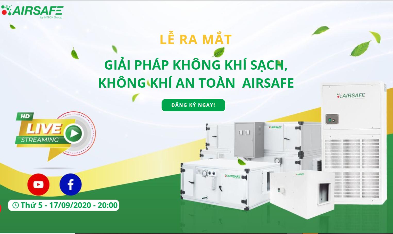 INTECH Group ra mắt giải pháp xử lý không khí thương hiệu Việt - Máy lọc khí Airsafe
