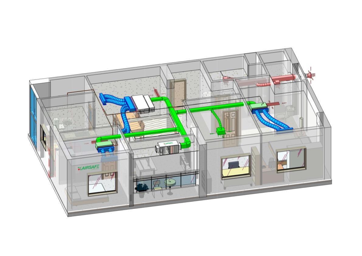 mô hình 3D giải pháp cho căn hộ
